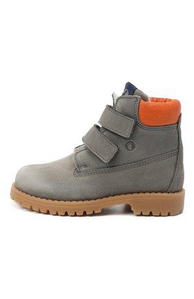 Детские кожаные ботинки WALKEY серого цвета, арт. Y1B4-40015-0415/25-29 | Фото 2