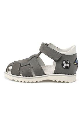 Детские кожаные сандалии WALKEY серого цвета, арт. Y1B4-40666-0121 | Фото 2