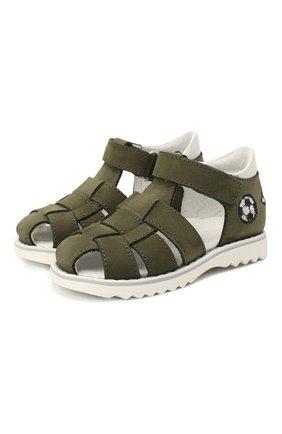 Детские кожаные сандалии WALKEY зеленого цвета, арт. Y1B4-40666-0121 | Фото 1