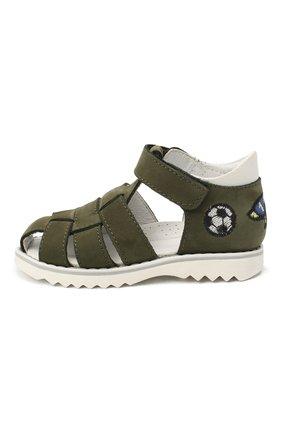 Детские кожаные сандалии WALKEY зеленого цвета, арт. Y1B4-40666-0121 | Фото 2