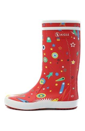 Детские резиновые сапоги AIGLE красного цвета, арт. 3826F3/L0LLY P0P FUN | Фото 2