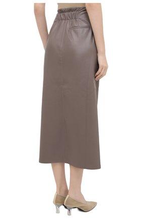 Женская юбка из экокожи NANUSHKA серого цвета, арт. AMAS_CLAY_VEGAN LEATHER | Фото 4