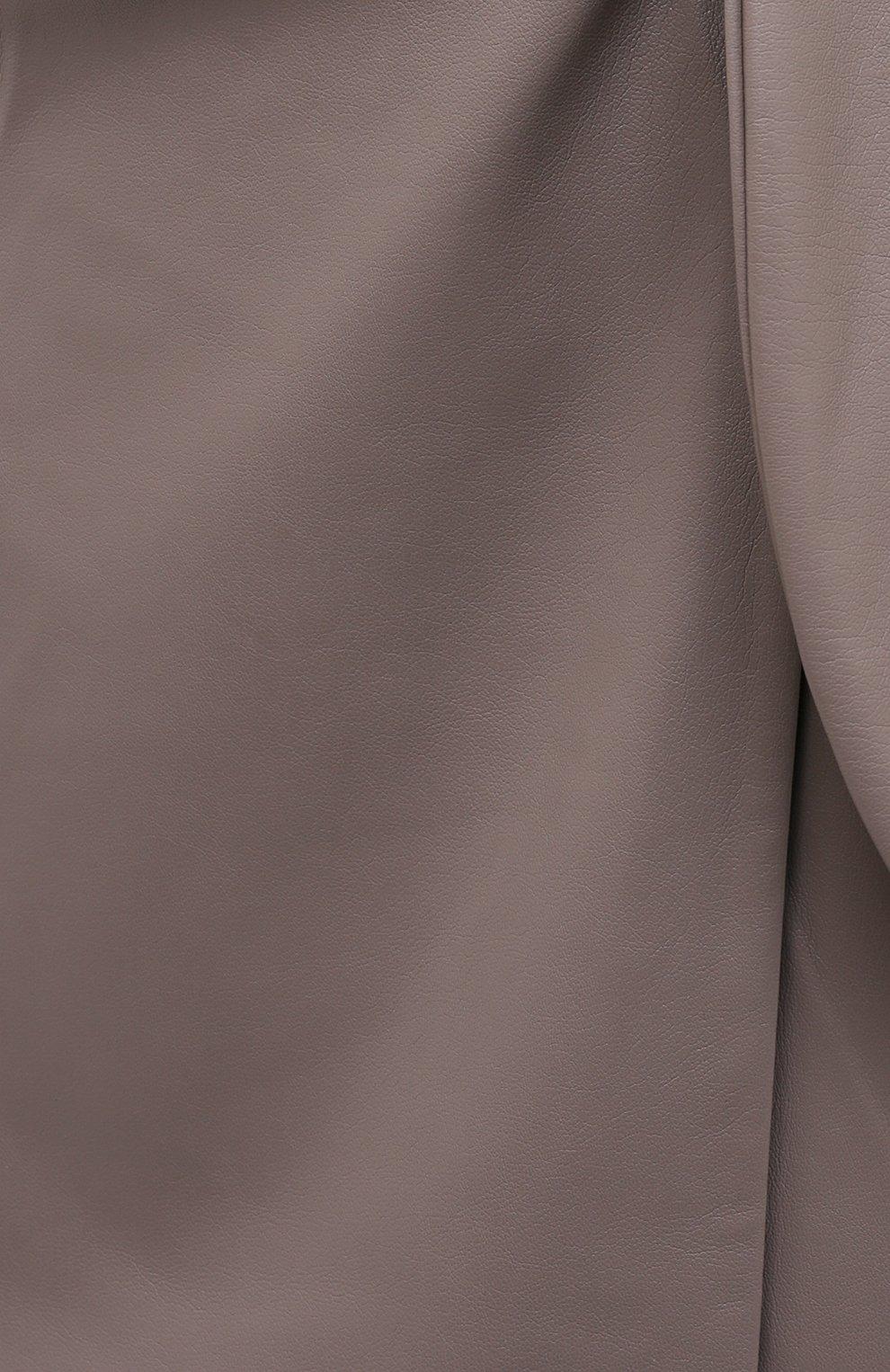Женская юбка из экокожи NANUSHKA серого цвета, арт. AMAS_CLAY_VEGAN LEATHER | Фото 5