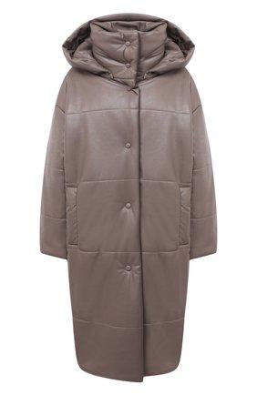 Женское пальто из экокожи NANUSHKA серого цвета, арт. ESKA_CLAY_VEGAN LEATHER | Фото 1