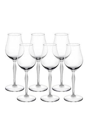 Мужского набор из 6-ти бокалов для коньяка 100 points LALIQUE прозрачного цвета, арт. 10491400 | Фото 1