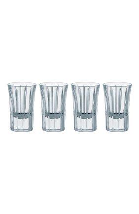 Мужского набор из 4-х рюмок для водки iriana CHRISTOFLE прозрачного цвета, арт. 07902440   Фото 1