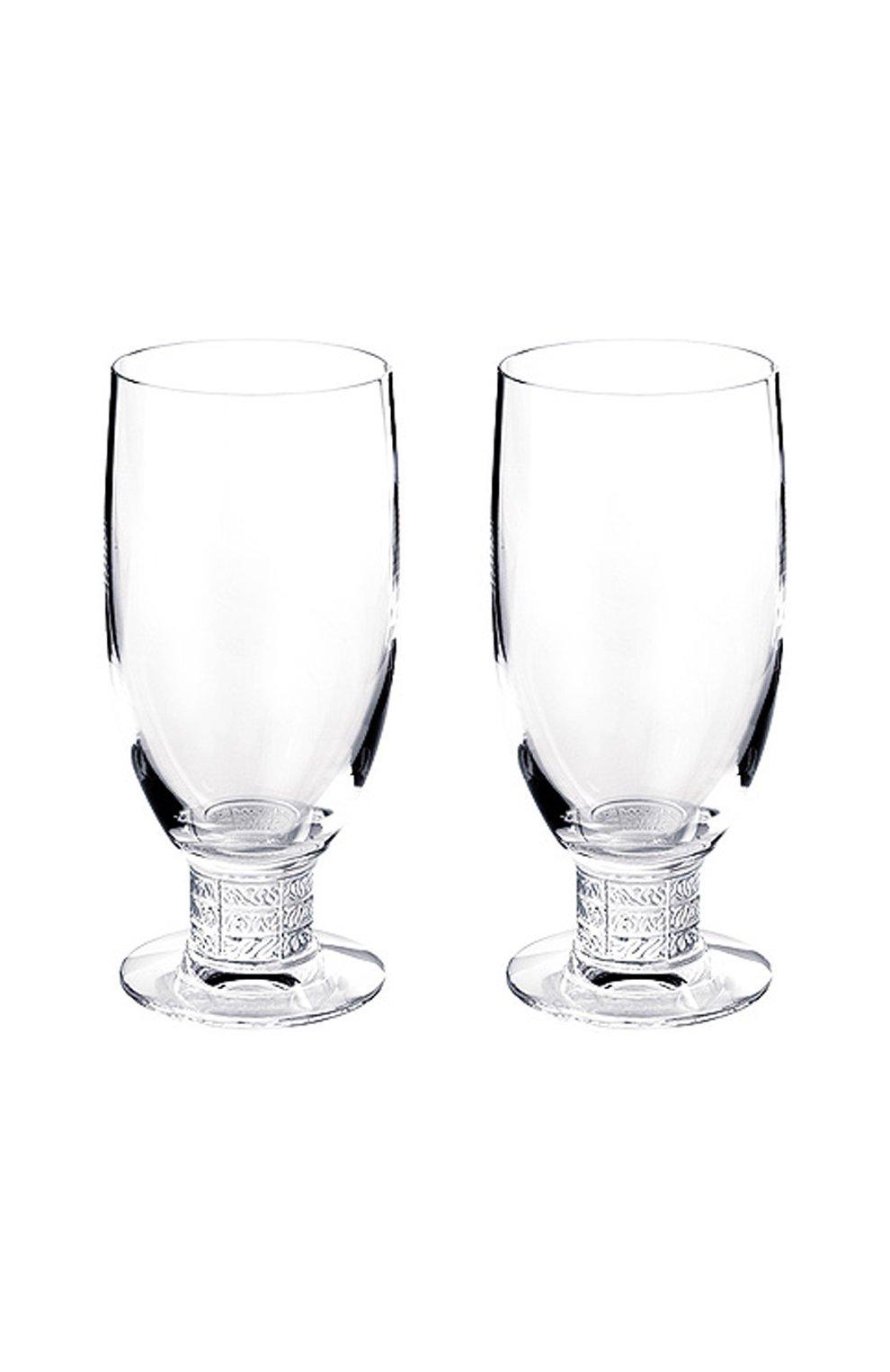 Мужского набор из 2-х бокалов для пива louvre LALIQUE прозрачного цвета, арт. 1734000   Фото 1