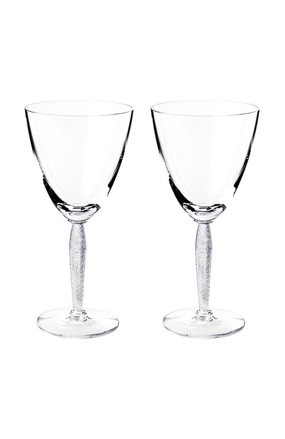 Мужского набор из 2-х бокалов для воды louvre LALIQUE прозрачного цвета, арт. 1733900 | Фото 1