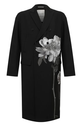 Мужской шерстяное пальто valentino x inez & vinoodh VALENTINO черного цвета, арт. UV0CAC476S6 | Фото 1