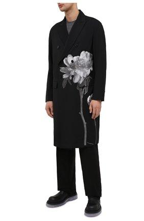 Мужской шерстяное пальто valentino x inez & vinoodh VALENTINO черного цвета, арт. UV0CAC476S6 | Фото 2