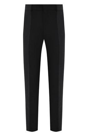 Мужские шерстяные брюки ALEXANDER MCQUEEN темно-серого цвета, арт. 619179/QPU12 | Фото 1 (Материал подклада: Купро; Длина (брюки, джинсы): Стандартные; Материал внешний: Шерсть; Случай: Формальный; Стили: Классический)