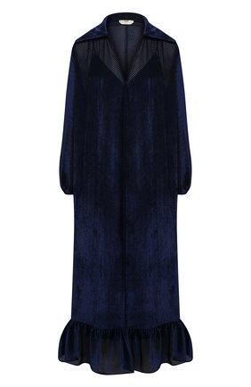 Женское платье из вискозы и шелка FENDI синего цвета, арт. FDA762 AC50   Фото 1