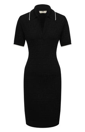 Женское платье FENDI черного цвета, арт. FZD859 AD50 | Фото 1