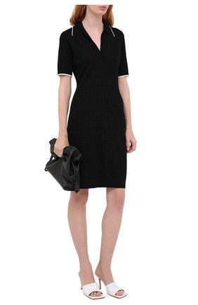 Женское платье FENDI черного цвета, арт. FZD859 AD50 | Фото 2