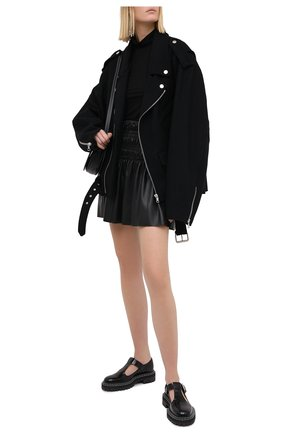 Женская юбка SELF-PORTRAIT черного цвета, арт. AW20-069S | Фото 2