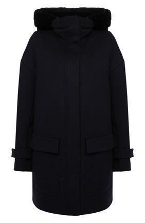 Женское пальто KITON синего цвета, арт. D50685X04T91 | Фото 1