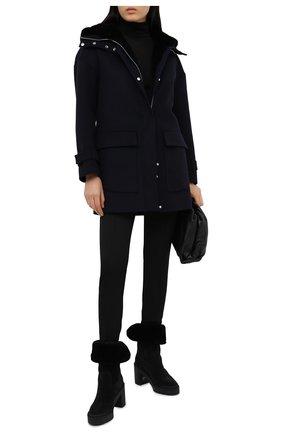 Женское пальто KITON синего цвета, арт. D50685X04T91 | Фото 2