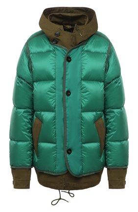 Женский пуховая куртка SACAI зеленого цвета, арт. 20-02317M | Фото 1
