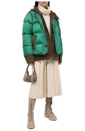 Женский пуховая куртка SACAI зеленого цвета, арт. 20-02317M | Фото 2
