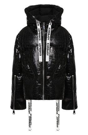 Женский пуховая куртка KHRISJOY черного цвета, арт. AFMW001/CR0C | Фото 1