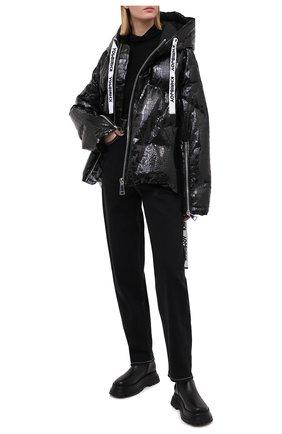 Женский пуховая куртка KHRISJOY черного цвета, арт. AFMW001/CR0C | Фото 2