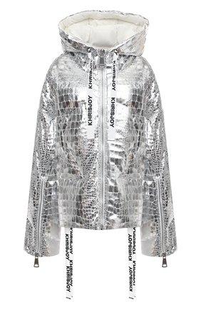 Женский пуховая куртка KHRISJOY серебряного цвета, арт. AFMW001/CR0C | Фото 1
