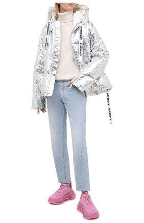 Женский пуховая куртка KHRISJOY серебряного цвета, арт. AFMW001/CR0C | Фото 2