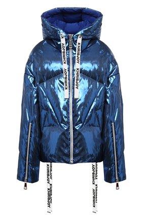 Женский пуховая куртка KHRISJOY синего цвета, арт. AFMW001/LP | Фото 1