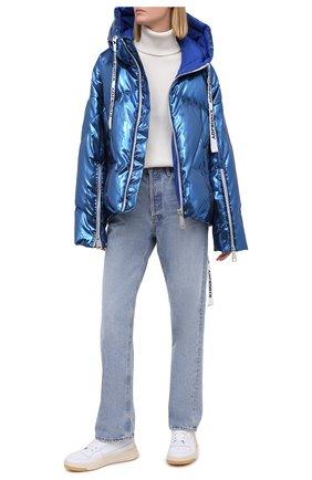 Женский пуховая куртка KHRISJOY синего цвета, арт. AFMW001/LP | Фото 2