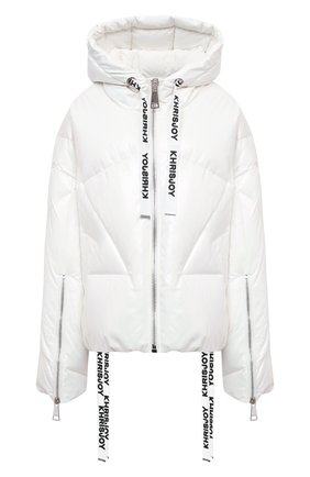 Женский пуховая куртка KHRISJOY белого цвета, арт. AFMW001/PL | Фото 1