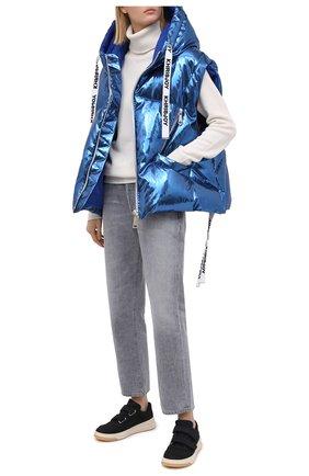 Женский пуховый жилет KHRISJOY синего цвета, арт. AFMW003/LP | Фото 2