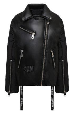 Женский пуховая куртка KHRISJOY черного цвета, арт. BFMW041/PU | Фото 1