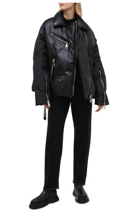 Женский пуховая куртка KHRISJOY черного цвета, арт. BFMW041/PU | Фото 2