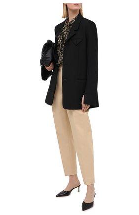 Женские хлопковые брюки KHAITE бежевого цвета, арт. 3060106/MAGDELINE | Фото 2
