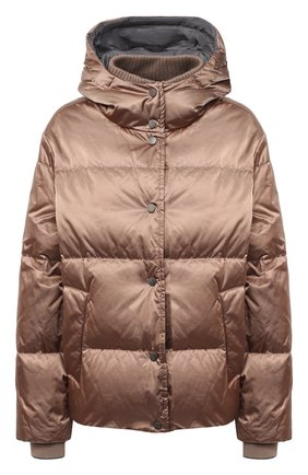 Женский пуховая куртка BRUNELLO CUCINELLI бежевого цвета, арт. MB5868246 | Фото 1