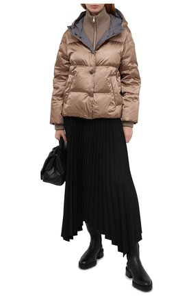 Женский пуховая куртка BRUNELLO CUCINELLI бежевого цвета, арт. MB5868246 | Фото 2