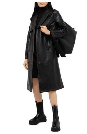 Женские кожаные ботинки MAISON MARGIELA черного цвета, арт. S39WU0200/PS679 | Фото 2