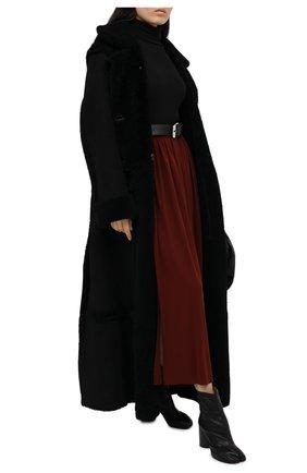 Женские кожаные ботильоны tabi MAISON MARGIELA черного цвета, арт. S58WU0260/P3753   Фото 2