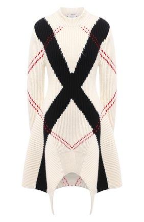 Женское шерстяное платье ALEXANDER MCQUEEN черно-белого цвета, арт. 641866/Q1ARG | Фото 1