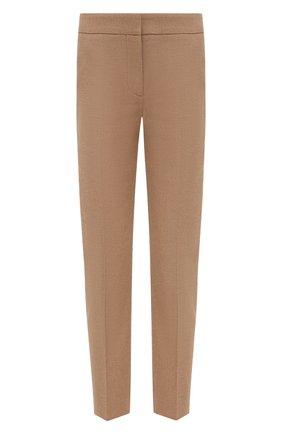 Женские шерстяные брюки ALEXANDER MCQUEEN бежевого цвета, арт. 631818/QKAAM   Фото 1