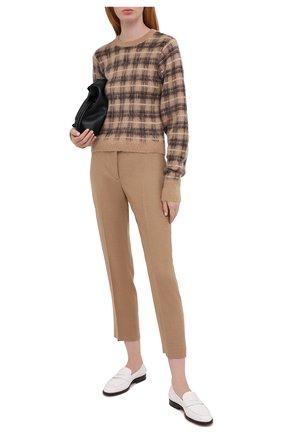 Женские шерстяные брюки ALEXANDER MCQUEEN бежевого цвета, арт. 631818/QKAAM   Фото 2