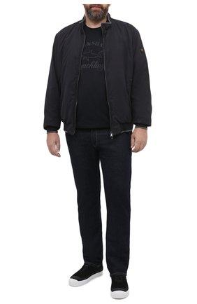 Мужская хлопковая футболка PAUL&SHARK черного цвета, арт. C0P1007/C00/3XL-6XL | Фото 2
