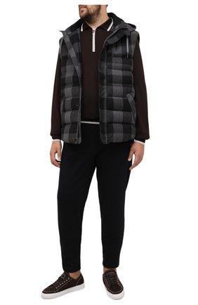 Мужские хлопковые брюки PAUL&SHARK черного цвета, арт. C0P1062/C00/3XL-6XL | Фото 2