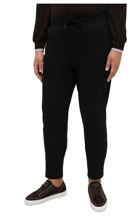 Мужские хлопковые брюки PAUL&SHARK черного цвета, арт. C0P1062/C00/3XL-6XL | Фото 3
