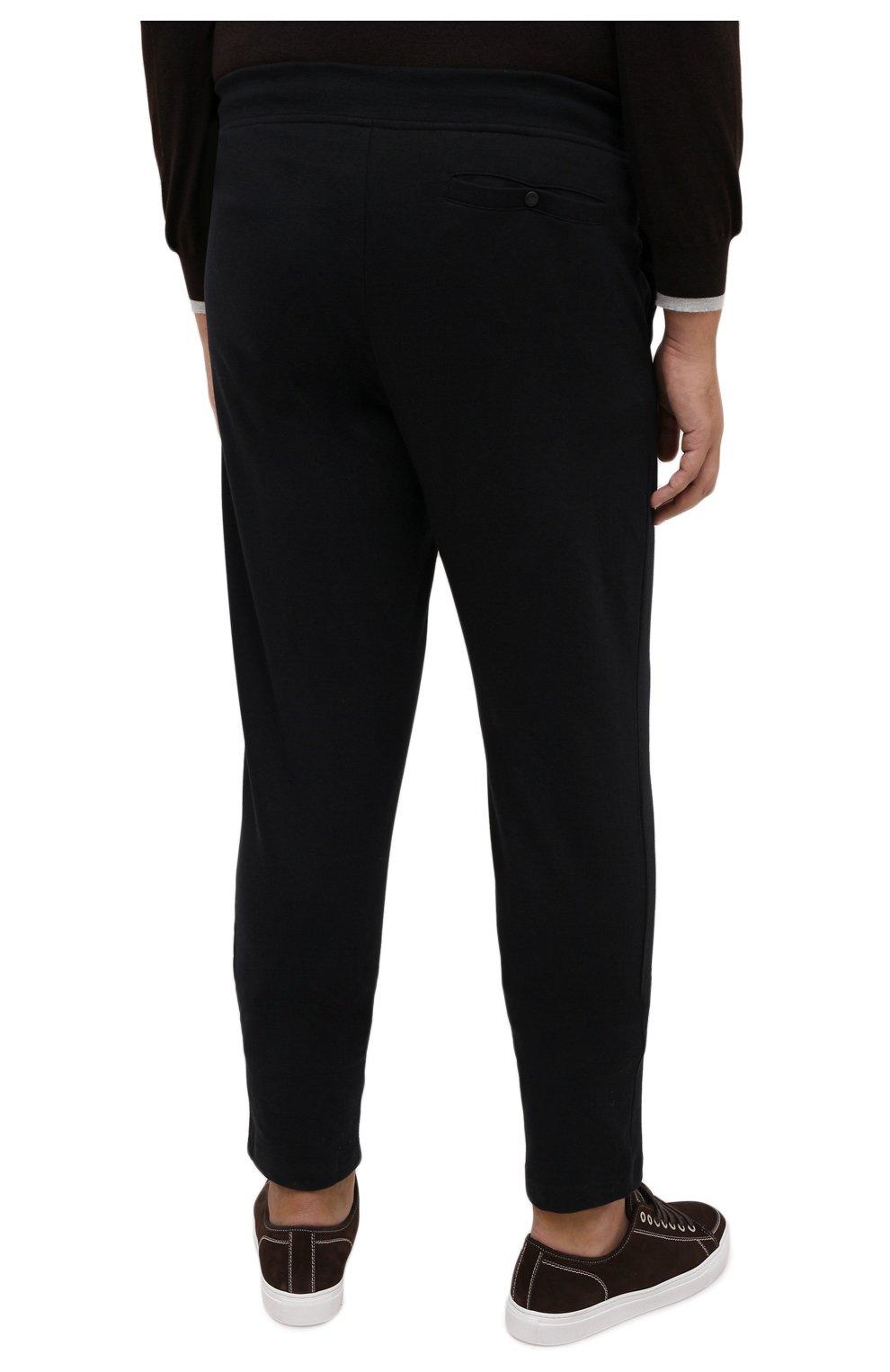 Мужские хлопковые брюки PAUL&SHARK черного цвета, арт. C0P1062/C00/3XL-6XL | Фото 4