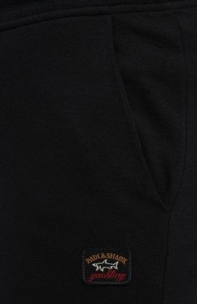 Мужские хлопковые брюки PAUL&SHARK черного цвета, арт. C0P1062/C00/3XL-6XL | Фото 5