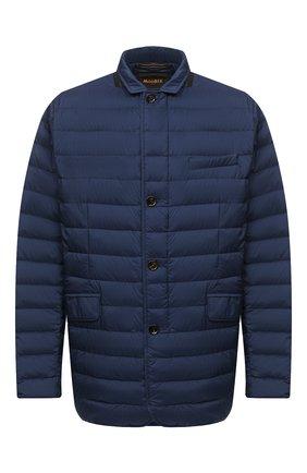 Мужская пуховая куртка zavyer-s3 MOORER синего цвета, арт. ZAVYER-S3/A20M360REFL/60-68   Фото 1