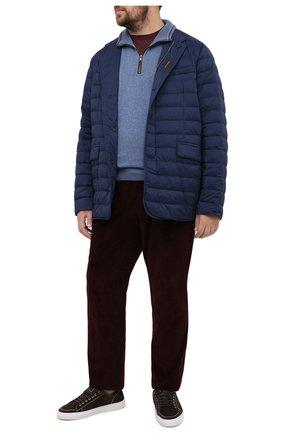 Мужская пуховая куртка zavyer-s3 MOORER синего цвета, арт. ZAVYER-S3/A20M360REFL/60-68   Фото 2