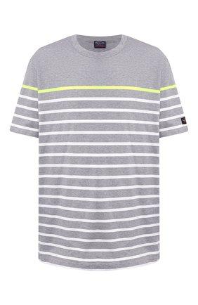 Мужская хлопковая футболка PAUL&SHARK светло-серого цвета, арт. A20P1627/HS5/3XL-6XL | Фото 1