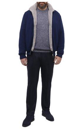 Мужской кашемировый джемпер PAUL&SHARK темно-синего цвета, арт. I20P1070/FNA/3XL-6XL | Фото 2